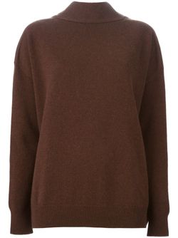 Свитер C V-Образным Вырезом Marni                                                                                                              коричневый цвет