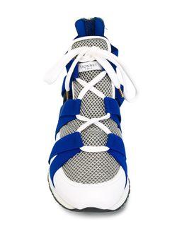 Кроссовки-Хайтопы Vionnet                                                                                                              синий цвет