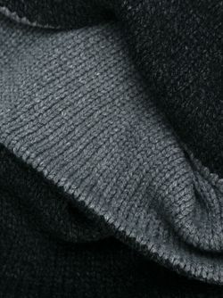 Двухсторонний Вязаный Шарф Forme D'Expression                                                                                                              серый цвет