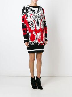 Жаккардовый Свитер-Платье Emilio Pucci                                                                                                              черный цвет