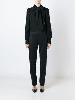 Блузка С Завязкой На Мягкий Бант Dolce & Gabbana                                                                                                              черный цвет