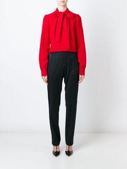 Блузка С Завязкой На Бант Dolce & Gabbana                                                                                                              красный цвет