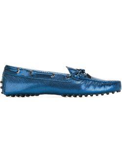 Мокасины С Отделкой Металлик Tod'S                                                                                                              синий цвет