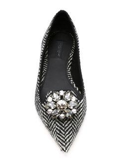 Балетки С Узором-Елочкой Dolce & Gabbana                                                                                                              чёрный цвет