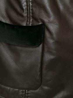 Приталенная Куртка Armani Collezioni                                                                                                              коричневый цвет