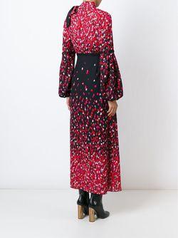 Длинное Платье С Принтом Сердец GIAMBA                                                                                                              чёрный цвет