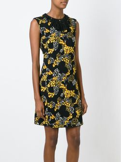 Платье С Декорированным Воротником И Принтом Giambattista Valli                                                                                                              черный цвет