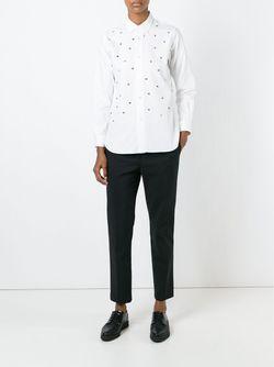Рубашка С Залкепками JUNYA WATANABE COMME DES GARCONS                                                                                                              белый цвет