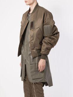 Двухслойная Куртка-Бомбер JUUN.J                                                                                                              зелёный цвет