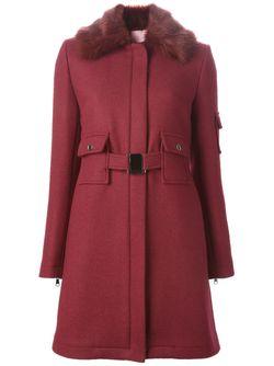 Пальто С Воротником Из Искусственного Меха GIAMBA                                                                                                              красный цвет