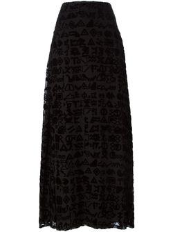 Длинная Юбка Symbols Kenzo                                                                                                              черный цвет