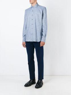 Пестрая Рубашка Corneliani                                                                                                              синий цвет