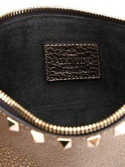 Клатч Rockstud С Отделкой Металлик Valentino Garavani                                                                                                              серый цвет