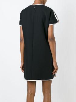Короткое Платье С Контрастной Окантовкой Valentino                                                                                                              чёрный цвет