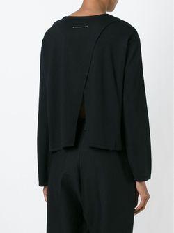 Свитер С Круглым Вырезом MM6 by Maison Margiela                                                                                                              чёрный цвет