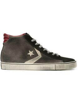 Высокие Кеды На Шнуровке Converse                                                                                                              серый цвет