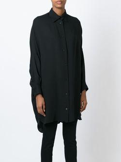 Классическая Удлиненная Рубашка DUSAN                                                                                                              черный цвет