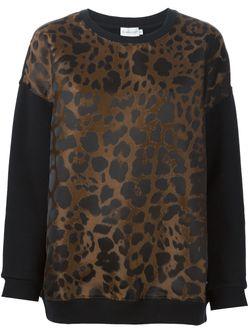 Толстовка С Леопардовым Узором Moncler                                                                                                              черный цвет