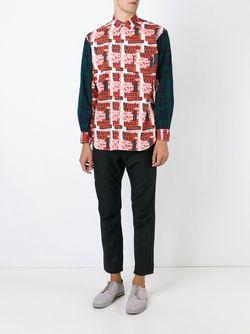 Рубашка С Принтом Comme Des Garcons                                                                                                              черный цвет