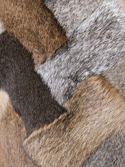 Меховой Асимметричный Жилет С Лоскутным Узором Maison Margiela                                                                                                              Nude & Neutrals цвет
