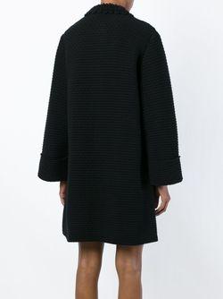 Пальто С Круглым Вырезом Dolce & Gabbana                                                                                                              чёрный цвет