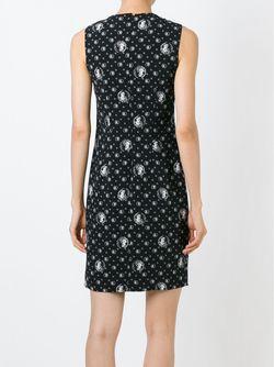 Приталенное Платье С Принтом Льва Versus                                                                                                              черный цвет