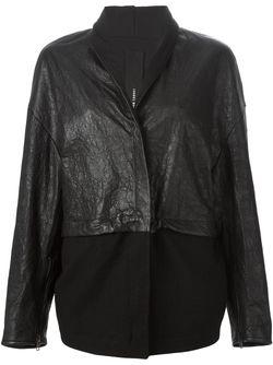 Куртка Свободного Кроя С Панельным Дизайном Isabel Benenato                                                                                                              черный цвет