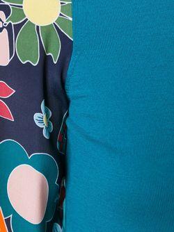 Свитер С Контрастными Рукавами Love Moschino                                                                                                              синий цвет