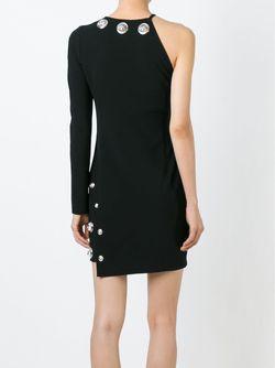 Декорированное Платье На Одно Плечо Versus                                                                                                              чёрный цвет