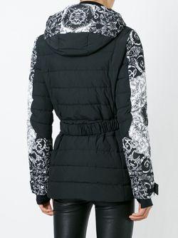 Дутая Куртка С Узором Барокко Versace                                                                                                              чёрный цвет