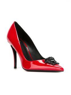 Лодочки Medusa Versace                                                                                                              красный цвет