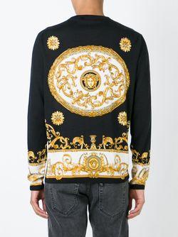 Свитер С Узором Барокко Versace                                                                                                              чёрный цвет