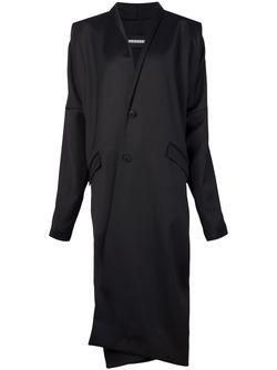 Длинное Драпированное Пальто MOOHONG                                                                                                              черный цвет