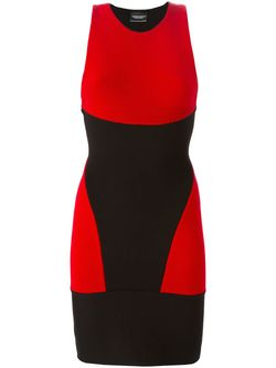 Облегающее Платье С Панельным Дизайном MARCELO BURLON COUNTY OF MILAN                                                                                                              чёрный цвет