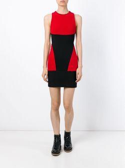 Облегающее Платье С Панельным Дизайном MARCELO BURLON COUNTY OF MILAN                                                                                                              черный цвет