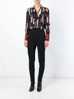Рубашка С Геометрическим Узором Salvatore Ferragamo                                                                                                              серый цвет