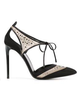 Декорированные Кристаллами Лодочки Giorgio Armani                                                                                                              чёрный цвет