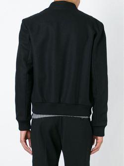 Куртка-Бобмер С Геометрическим Узором Les Hommes                                                                                                              чёрный цвет