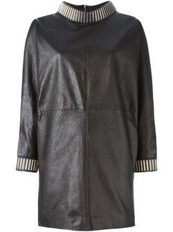 Платье С Декорированными Манжетами И Воротником Saint Laurent                                                                                                              чёрный цвет