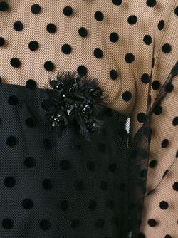 Прозрачная Рубашка В Горошек Rochas                                                                                                              чёрный цвет