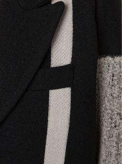 Однобортное Пальто С Контрастными Панелями SONG FOR THE MUTE                                                                                                              чёрный цвет