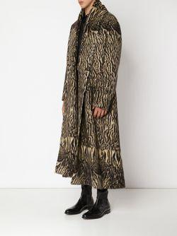 Длинное Пальто С Тигровым Принтом Haider Ackermann                                                                                                              коричневый цвет