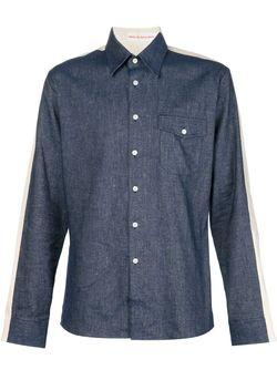 Back Print Panelled Shirt WALTER VAN BEIRENDONCK VINTAGE                                                                                                              синий цвет