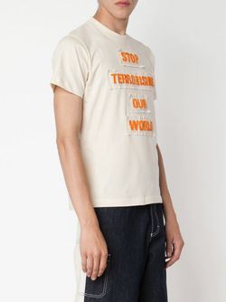 Футболка Со Слоганом WALTER VAN BEIRENDONCK VINTAGE                                                                                                              Nude & Neutrals цвет