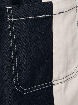 Широкие Джинсы С Панельным Дизайном WALTER VAN BEIRENDONCK VINTAGE                                                                                                              синий цвет