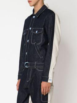 Джинсовая Куртка С Панельным Дизайном WALTER VAN BEIRENDONCK VINTAGE                                                                                                              синий цвет