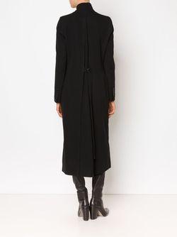 Удлиненное Пальто С Воротником-Стойкой Ann Demeulemeester                                                                                                              чёрный цвет