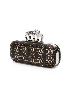 Декорированный Клатч Knuckle Box L Alexander McQueen                                                                                                              чёрный цвет