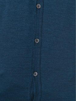 Кардиган C V-Образным Вырезом John Smedley                                                                                                              синий цвет