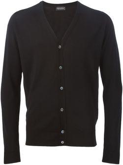 Кардиган C V-Образным Вырезом John Smedley                                                                                                              черный цвет